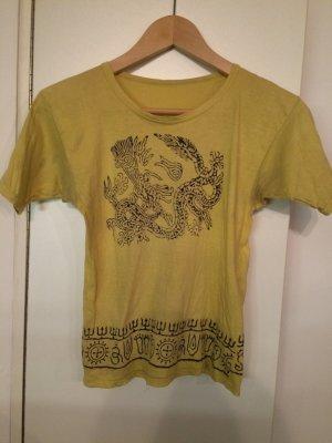 T-shirt jaune fluo-noir