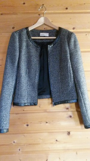 Indoor Jacke in Bouclé-Optik mit Glanz