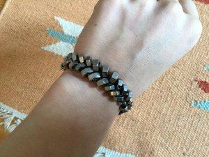 Ornamento braccia argento-nero