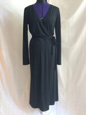 Ines de la Fressange - klassisches schwarzes Wickelkleid