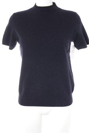 Ines de la Fressange Jersey de manga corta azul oscuro-negro look casual