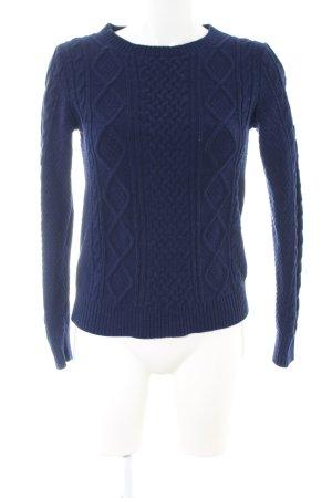 Ines de la Fressange Jersey trenzado azul punto trenzado look casual