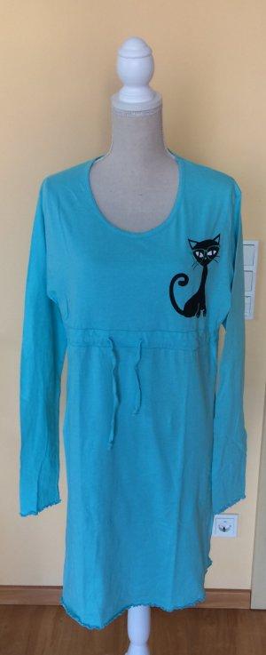 Infinity Nachthemd türkis Katze Größe L neu