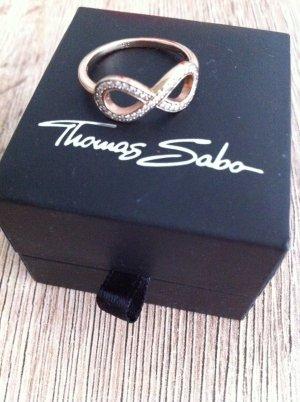 "Infinity Ring von Thomas Sabo ""original"" , roségold, Gr.54, Top Zustand"
