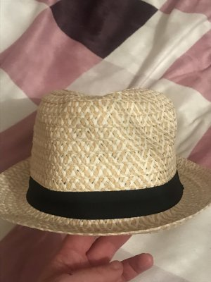 Infinity woman Straw Hat beige-black