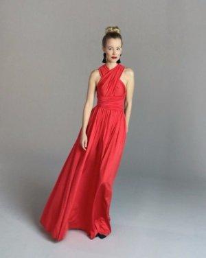 Infinity Wickelkleid rot für besondere Anlässe mit mehr als 25 Wickel-Styles