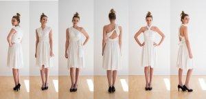 Infinitykleid, spitze, ivory, weiß, M (Brautkleid oder schickes Sommerkleid)