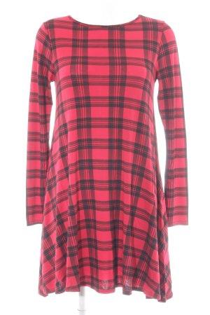 Influence A-Linien Kleid schwarz-dunkelrot Glencheckmuster Casual-Look