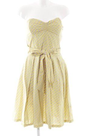 Influence Petticoat Dress yellow-light grey striped pattern '50s style