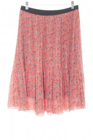 Influence Pleated Skirt apricot-cornflower blue allover print casual look