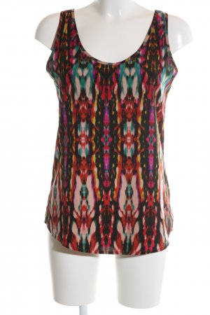 Influence Flounce Top abstract pattern casual look