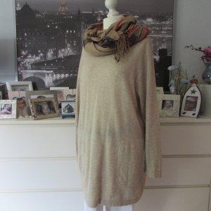 Ingrid Perla * Edler Long Pullover Pulloverkleid Cashmere Kaschmir * sand-creme * 42/44/46