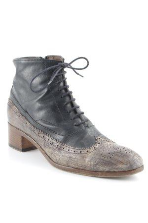 Ink Western-Stiefeletten schwarz-graubraun Street-Fashion-Look