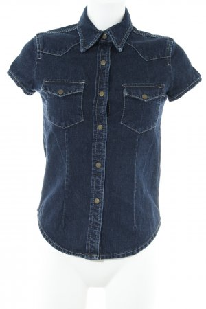 InScene Jeansbluse dunkelblau Casual-Look