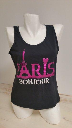 Inside Shirt Top Paris Gr XL Schwarz