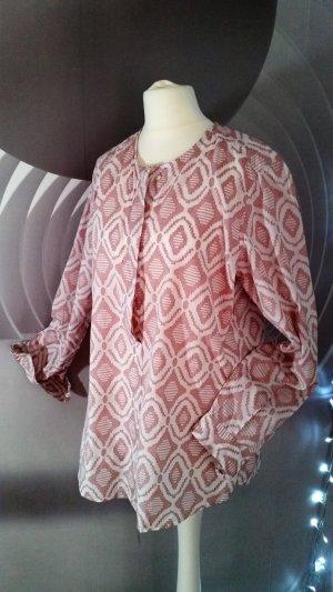 Insieme Camicia blusa rosa antico Cotone