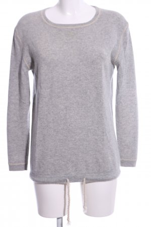 Insieme Cashmere Jumper light grey flecked casual look