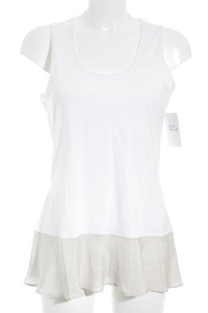 Insieme Trägertop weiß-beige Casual-Look