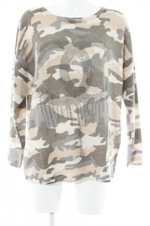 Insieme Wollpullover Camouflagemuster Casual-Look