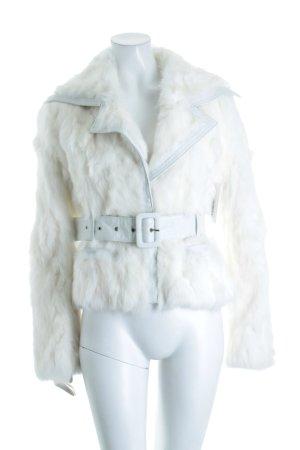 Inspire Felljacke weiß extravaganter Stil