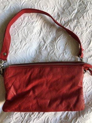 Intensiv rote Hanna White Ledertasche aus weichem Echtleder, sehr guter Zustand