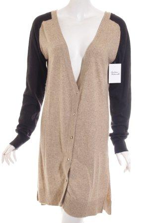 Interdee Paris Fashion Strick Cardigan hellbraun-schwarz Casual-Look