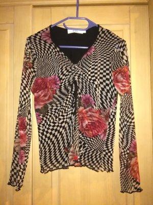 interessante Bluse mit Blumenprint