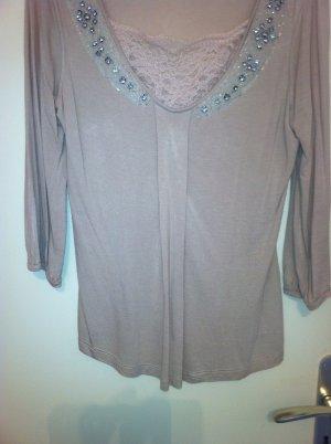 Zara Woman Slip-over blouse nude Viscose