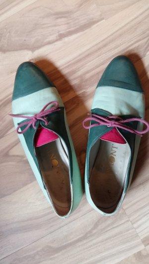 Scarpa stringata multicolore Pelle