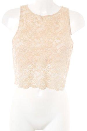 INTIMATELY Free People Top di merletto crema motivo floreale elegante