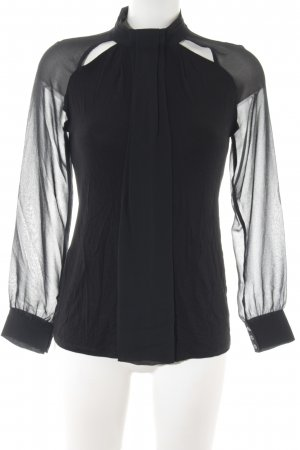 Intimissimi Langarm-Bluse schwarz Materialmix-Look