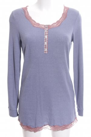 Intimissimi Longsleeve lila-pink Karomuster Casual-Look