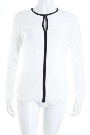 Intimissimi Longsleeve weiß-schwarz Eleganz-Look