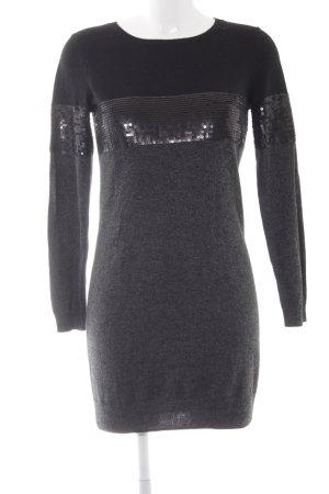 Intimissimi Sweaterjurk zwart-grijs gestippeld casual uitstraling