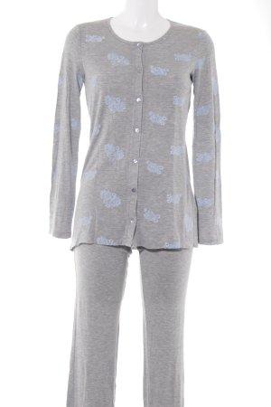 Intimissimi Pijama gris claro-azul claro estampado floral mullido