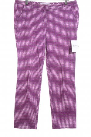 Intrend Bundfaltenhose magenta-wollweiß Karomuster Business-Look