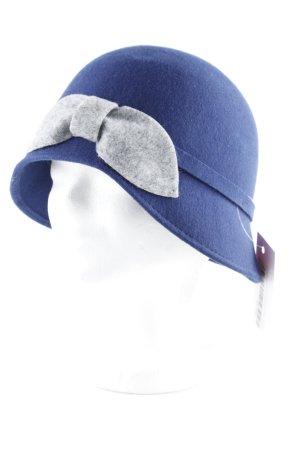 Intrend Cloche Hat light grey-dark blue '20s style