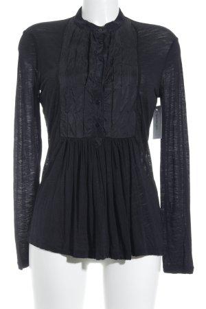 Intrend Langarm-Bluse schwarz schlichter Stil