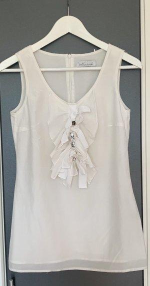 Intrend Mouwloze blouse wit Zijde