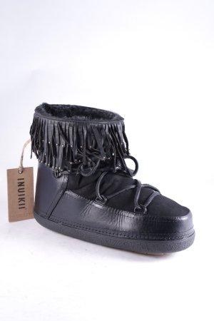 Inuikii Boots schwarz-silberfarben Kuschel-Optik