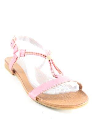 Inuovo Sandalen met bandjes roze-bruin casual uitstraling