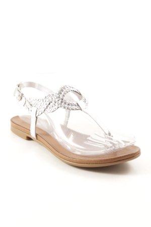 Inuovo Sandalo con cinturino argento-marrone chiaro stile casual