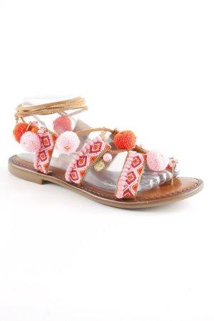 Inuovo Roman Sandals Aztec pattern hippie style
