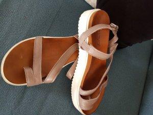 Inuovo Platform High-Heeled Sandal light brown