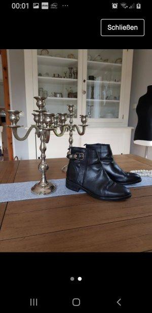 Korte laarzen zwart-roodbruin