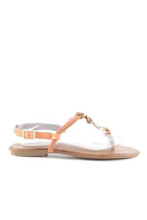 Inuovo Sandalo toe-post arancione chiaro-bianco sporco stile casual