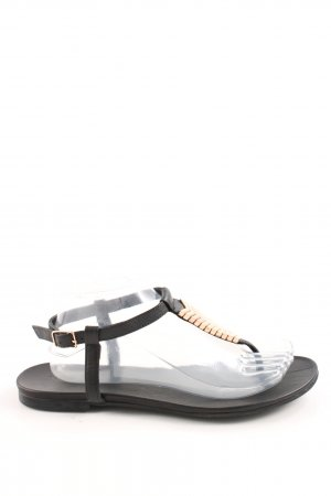 low priced 9383f fcdfc Inuovo Zehentrenner-Sandalen schwarz Casual-Look