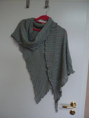 Foulard en soie gris vert-vert clair coton
