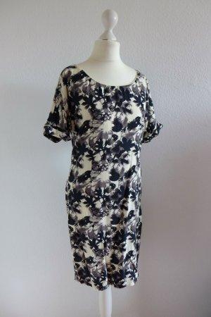 InWear Etui Kleid Sommer Blüten Blumen schwarz weiß grau Gr. 34 (36) neu