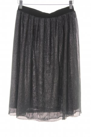 InWear High Waist Rock schwarz-silberfarben Elegant